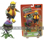 Plants Vs. Zombies: Engineer Zombie + Chomper Action Figure