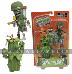 Plants Vs. Zombies: Foot Soldier Zombie + Camo Cactus Action Figure